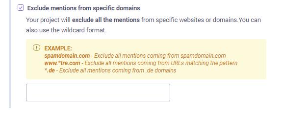 Exclude websites