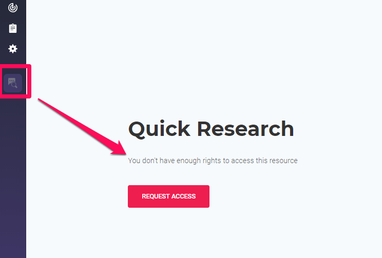 Quick Research limited access